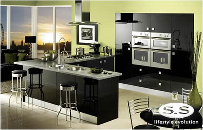 Дизайн совмещенная кухня с залом