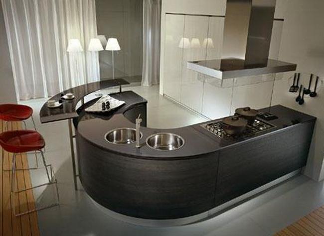 кухня круглая фото