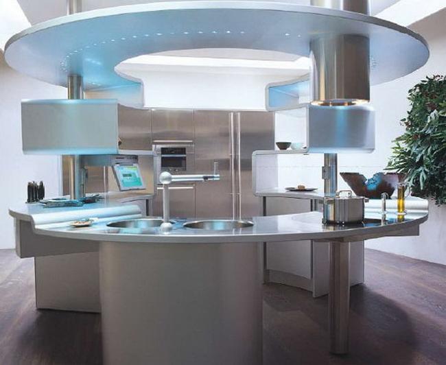 Круглая кухня фото
