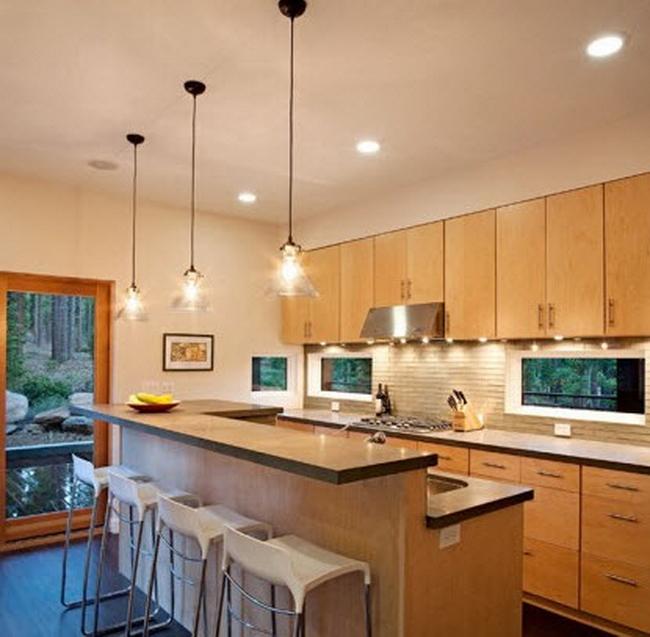 фото точечные светильники на кухне фото