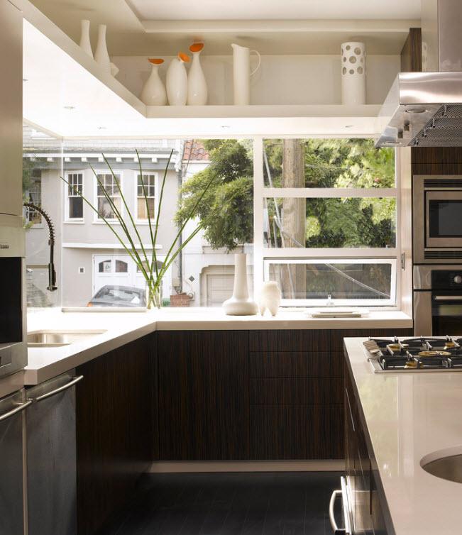 панорамные окна на кухне дизайн фото