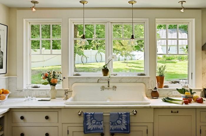 Кухни с мойкой перед окном дизайн